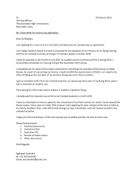 Tourist Visa Covering Letter letter