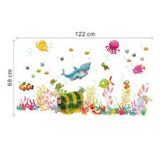 aliexpress com buy cartoon diy wall stickers underwater world