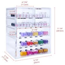Hair And Makeup Organizer Acrylic Cosmetics Storage W Removable Drawers 3 Large And 4 Small
