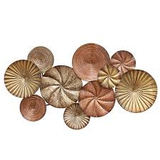 Metal Flower Wall Decor - stratton home décor round blowing leaves wall décor stratton