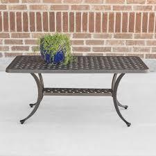 walker edison coffee table walker edison furniture company cast aluminum wicker style patio