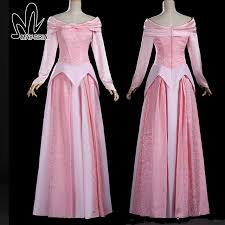 sleeping beauty princess aurora cosplay costume aurora dress pink