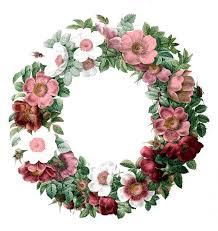 holly wreaths clipart in vintage blue mandy art market clip