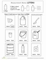 6 best images of year 1 volume and capacity worksheets math