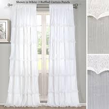Balloon Drapery Panel Ruffled Curtains Ellis Curtain Clarice Ruffled Curtain Valance