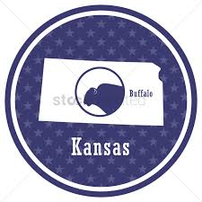 Buffalo State Map by Kansas State Map With Buffalo Vector Image 1581700 Stockunlimited