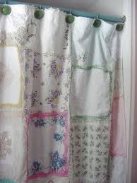 Vintage Green Curtains Vintage Shower Curtain Foter