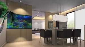 furniture glamorous fish tank room divider with recessed lighting