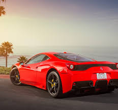 ferrari back view ferrari 458 speciale red supercar back view 4k desktop wallpaper