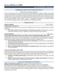 Resume For University Job by Real Estate Analyst Resume Example