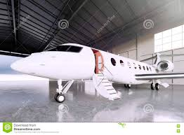 picture of white matte luxury generic design private jet parking