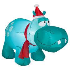 Air Blown Christmas Decorations Trim A Home Airblown Hippo Lawn Decoration 4 U0027