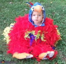 Fluffy Halloween Costumes Feathery Fluffy Parrot Baby Costume Photo 3 3