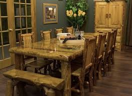 Log Dining Room Table Fancy Log Dining Room Tables 48 In Dining Table With Log Dining