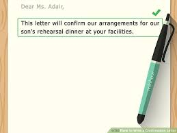 how to write a confirmation letter with sample letters