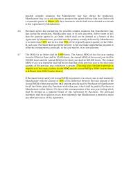 sample work manufacturing and supply agreement part 1