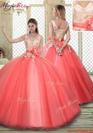 quinceanera dresses with straps coral quinceanera dresses coral sweet 16 dresses