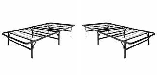 foldable platform bed lucid foldable metal platform bed frame and mattress foundation review