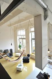 factory loft with an integrated hammock and a mezzanine