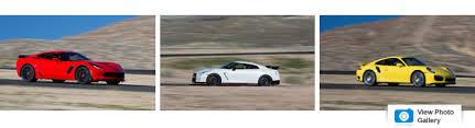 nissan gtr vs corvette z06 performance data showdown 2015 corvette z06 vs gt r nismo 911