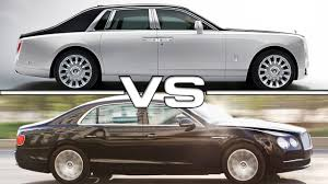 phantom bentley 2018 rolls royce phantom vs 2016 bentley flying spur youtube