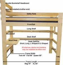 Diy Loft Bed With Desk by Free Diy Full Size Loft Bed Plans Awesome Woodworking Ideas How To