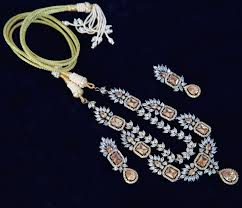 jewelry designs necklace sets images Peach imperial topaz stone antique finish ad necklace set jpg