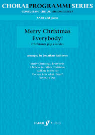 merry christmas everybody satb piano presto sheet music