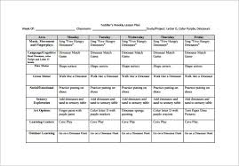 toddler lesson plan template u2013 10 free word excel pdf format