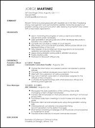 Transferable Skills Resume Sample by Free Entry Level Probation Officer Resume Template Resumenow