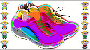learning colors sneakers coloring pages made by pena animation