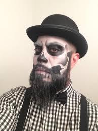Bearded Halloween Costume Skeleton Makeup Beard Google Halloween