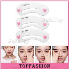 online shop 3 styles brow painted model stencil kit thrush card