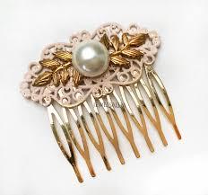 gold hair accessories blush gold hair comb wedding hair slide hair