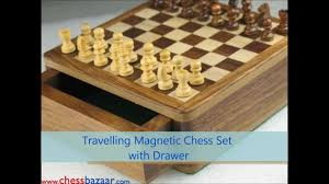 travelling magnetic chess set by chessbazaar com youtube
