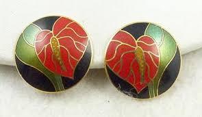 laurel burch earrings laurel burch anthurium earrings garden party collection vintage