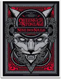 queens of the stone age u0026 nine inch nails gig poster by hydro74