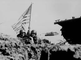 Guam Flag 21 July 1944 Us Marines Assault The Beaches Of Guam