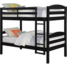 Black Wooden Bunk Beds Mainstays Wood Bunk Bed Black