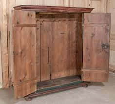 Painted Armoire Furniture 19th Century Rustic Swiss Painted Armoire At 1stdibs
