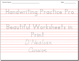 make beautiful handwriting practice worksheets
