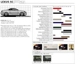 lexus paint colors lexus sc touchup paint codes image galleries brochure and tv