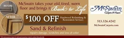 100 hardwood refinishing restoration from mcswain carpets