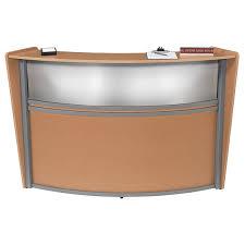 Front Reception Desk Marque Single Station Reception Desk W Plexiglas Front Ofm
