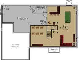 custom rambler floor plans baby nursery floor plans with basement inspirations basement