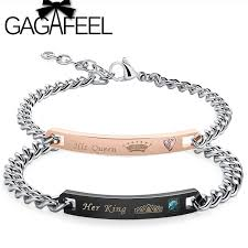 personalized engraved bracelets gagafeel new customized bracelets king his