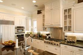 off white kitchen cabinets with stainless appliances california style decor kitchen tropical with under cabinet lighting