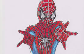 drawn spider man cute pencil and in color drawn spider man cute