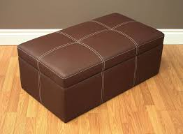 Square Brown Leather Ottoman Sofa Square Leather Ottoman Upholstered Ottoman Ottoman Chair