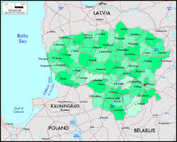 Lithuania World Map by Lithuania Political Wall Map Maps Com